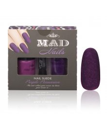 Nail Art Suede Purple Persuasion