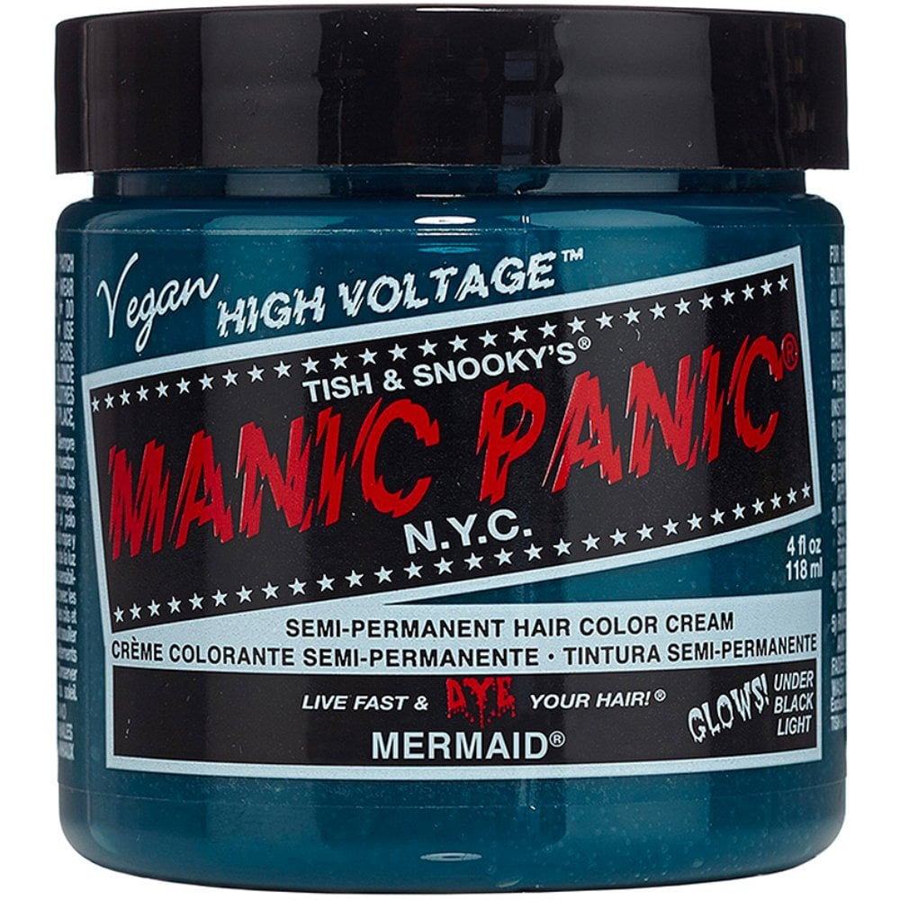 Mermaid Classic High Voltage UV Hair Dye | Dyed hair ... |Mermaid Manic Panic High Voltage