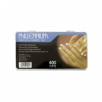Millennium Nails French White Nail Tips x 400