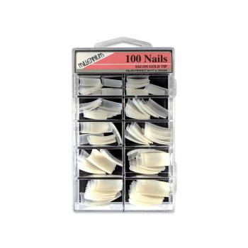 Millennium Nails Salon Gold Nail Tips x 100