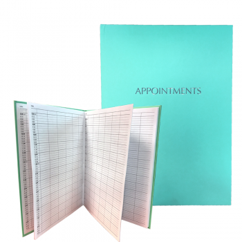 Misc Appointment Book 6-Assistant Teal