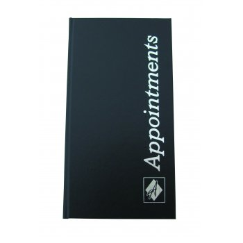 Misc Appointment Book Black 3 Columns