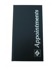 Appointment Book Black 3 Columns