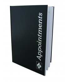 Appointment Book Black 6 Columns