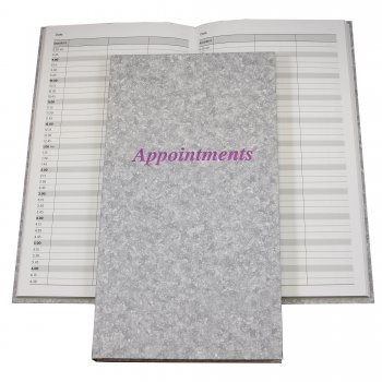 Misc Appointment Book Grey 3 Columns