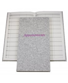 Appointment Book Grey 3 Columns