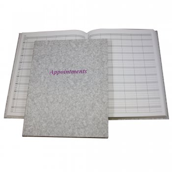 Misc Appointment Book Grey 6 Columns