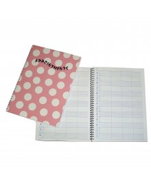 Polka Appointment Book Pink 4 Columns