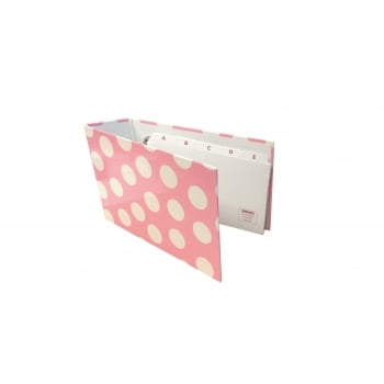 Misc Polka Record Card Binder Pink