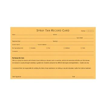 Misc Spray Tan Record Cards