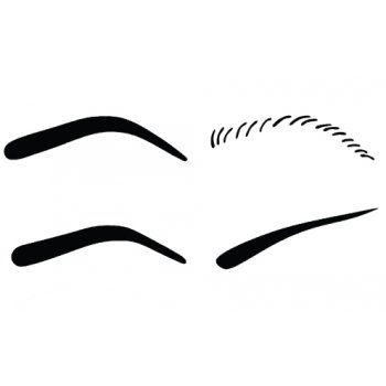 This is a graphic of Free Printable Eyebrow Stencils Pdf for outline