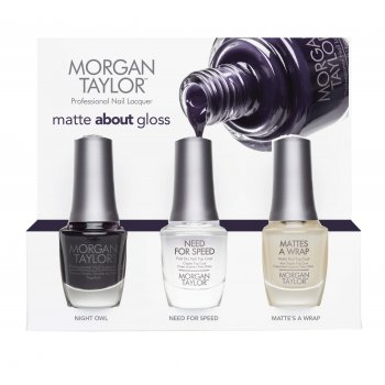 Morgan Taylor Matte About Gloss Trio Pack Nail Polish
