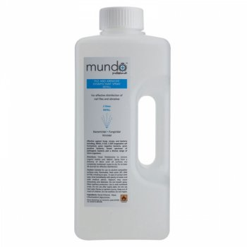 Mundo Professional File and Abrasive Disinfectant Spray Refill 2 Litre
