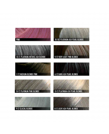 Metallic Hair Colour Shade Chart