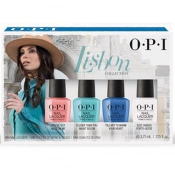 OPI Lisbon Nail Lacquer Mini 4 Piece Set