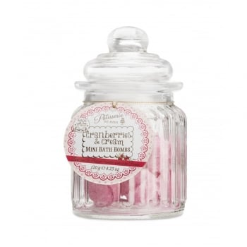 Patisserie de Bain Mini Bath Bomb Sweetie Jar Cranberries & Cream
