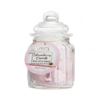 Patisserie de Bain Mini Bath Bomb Sweetie Jar Strawberry Cupcake