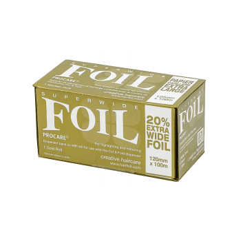 Procare Superwide Hair Foil Gold 120mm x 100m