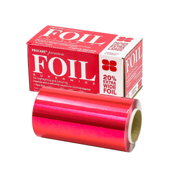 Procare Superwide Hair Foil Red Roll 120mm x 100m