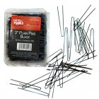 Plain Pins 3 inch Black x 500