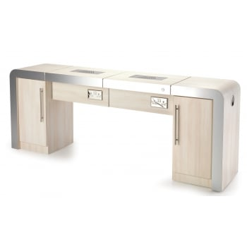 REM Concorde Nail Station 2 Position with Storage