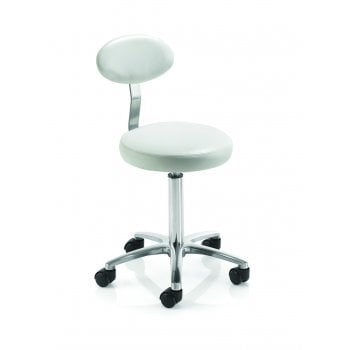 REM Therapist Stool With Backrest