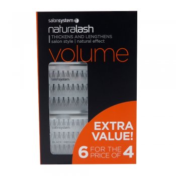 9d52ae20ffd Salon System Individual Lashes Volume Black Medium 6 For The Price Of 4 |  Dennis Williams