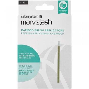 Salon System Marvelash Bamboo Brush Applicator x 100