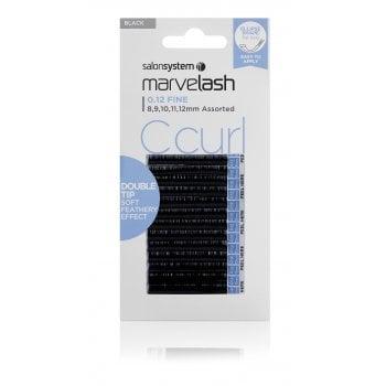 Salon System Marvelash C Curl 0.12 Fine Double Tip Assorted 8-12mm