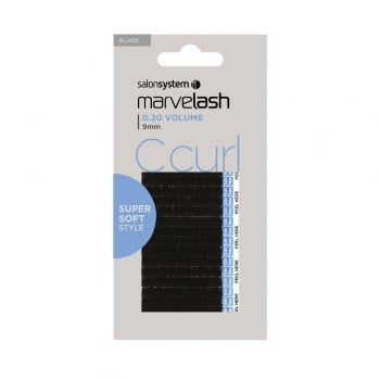 Salon System Marvelash C Curl Lashes 0.20 9mm Black