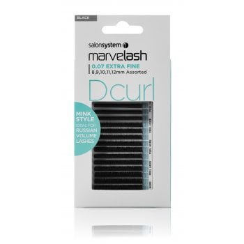 Salon System Marvelash D Curl 0.07 Extra Fine Assorted 8-12mm (Mink Style