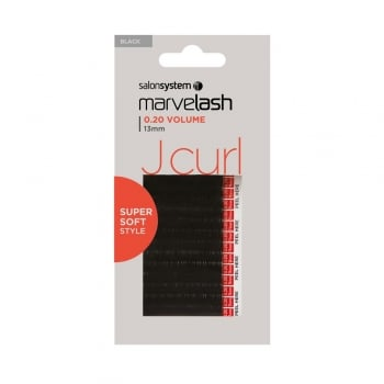 Salon System Marvelash J Curl Lashes 0.20 13mm Black