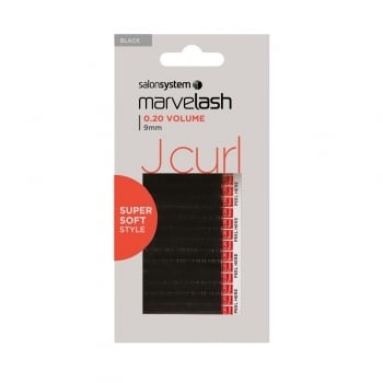 Salon System Marvelash J Curl Lashes 0.20 9mm Black