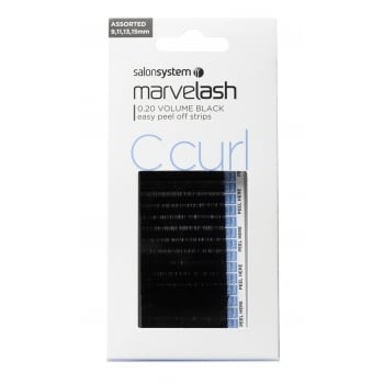 Salon System Marvelash Lash Extensions C Curl 0.20 Assorted Volume Black