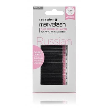 Salon System Marvelash Russian 0.07 Double Layer Assorted  8-12mm