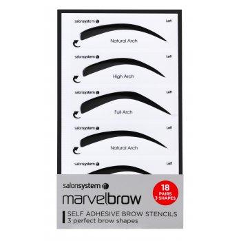 Salon System Marvelbrow Self Adhesive Brow Stencils