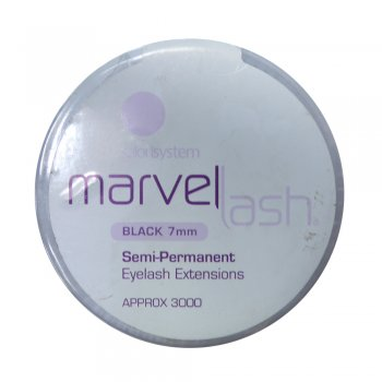 Salon System Marvellash Eyelash Extensions 7mm Black