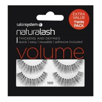 Salon System Naturalash 100 Extra Value Twin Pack