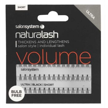 Salon System Naturalash Individual Lashes Volume Ultra Black Short