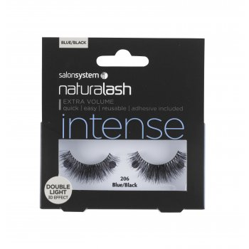 Salon System Naturalash Striplash Intense Double Light Blue/Black 206