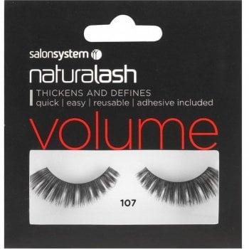 Salon System Naturalash Striplash Volume 107 Black