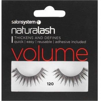 Salon System Naturalash Striplash Volume 120 Black