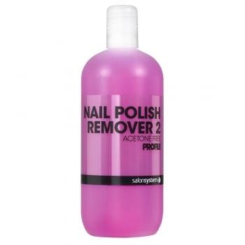 Salon System Polish Remover Formula 2 Pink 125ml