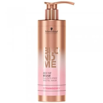Schwarzkopf BlondMe Blush Wash Pastel Shampoo 250ml Strawberry