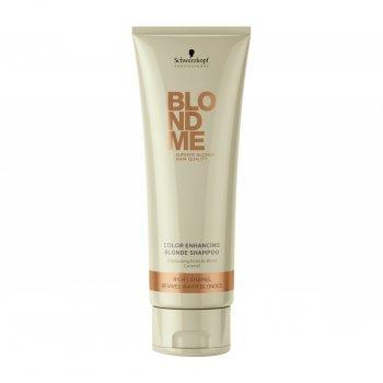 Schwarzkopf BlondMe Color Enhancing Blonde Shampoo Rich Caramel 250ml