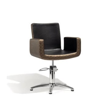 Sibel Attractio Cutting Chair Dark Gold & Black with 5-Star Base