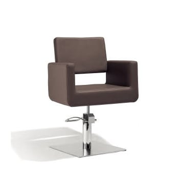 Sibel Felicitas Cutting Chair Brown with Square Base