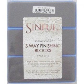 Sinful Nails 3 Way Finishing Block x 3