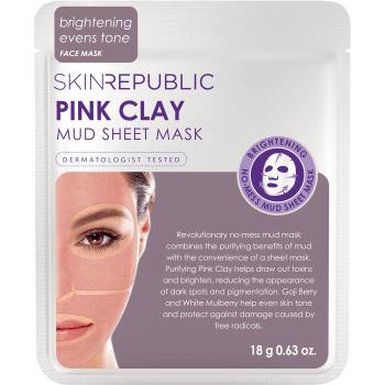 Skin Republic Pink Clay Mud Sheet Mask