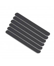 Black Narrow Wood Nail Files x 6